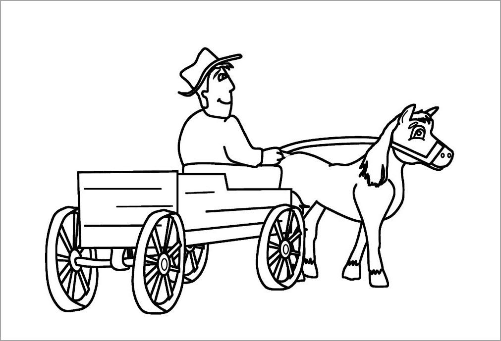 Tranh tô màu xe ngựa