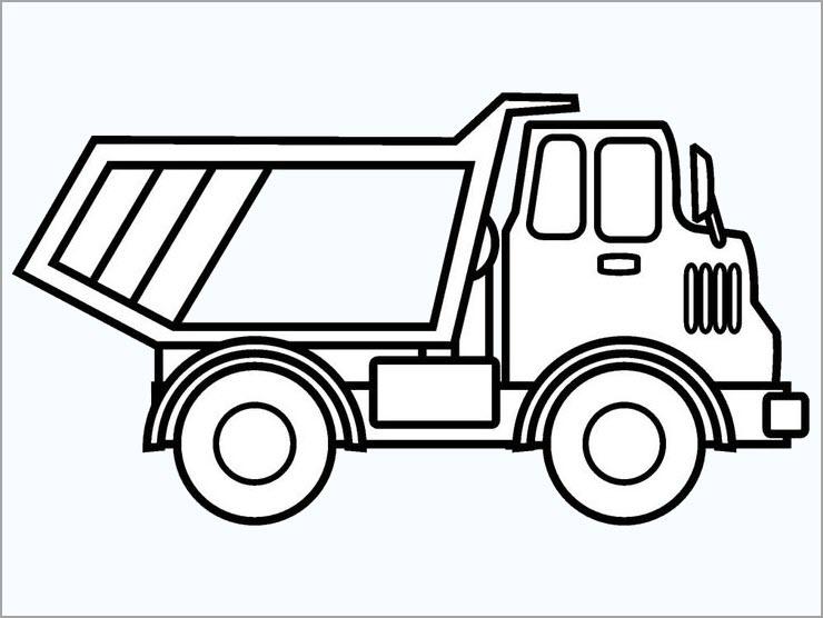 Tranh tô màu xe tải