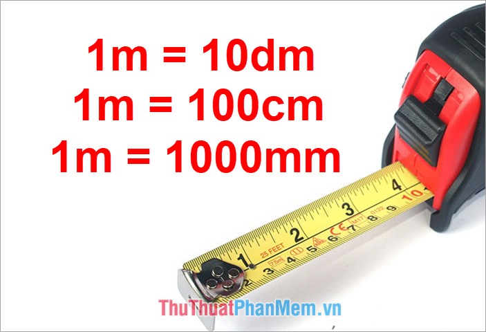 1m bằng bao nhiêu dm, cm, mm? (3)