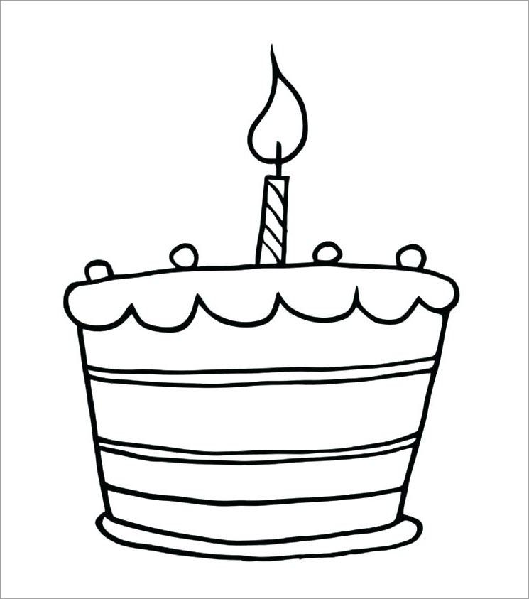 Bé tập tô màu bánh sinh nhật
