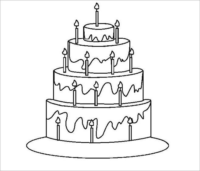 Bé tô màu bánh sinh nhật