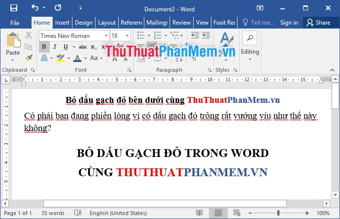 Cách bỏ gạch đỏ trong Word - Bỏ kiểm tra chính tả trong Word