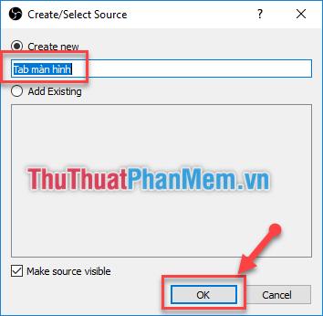 Có thể đổi tên nguồn cho dễ nhớ