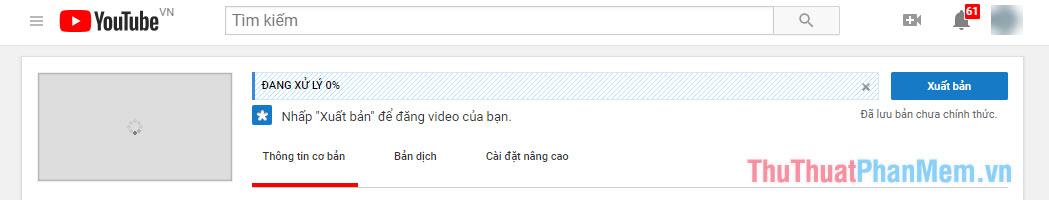 Đợi upload video