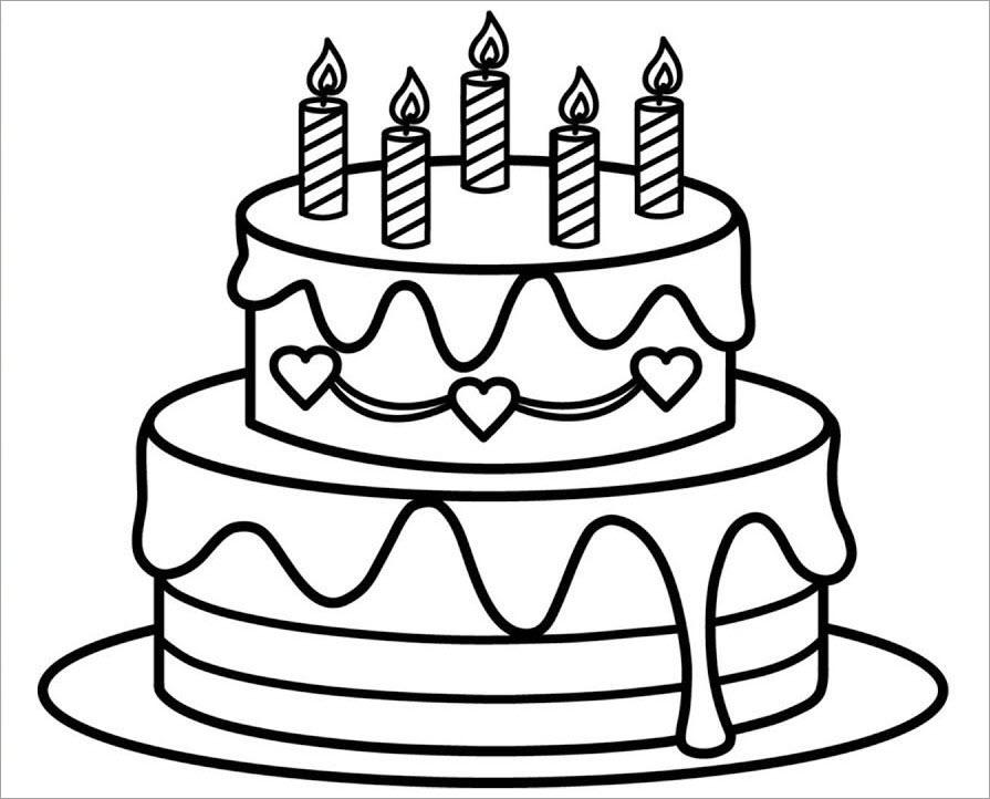 Hình tập tô bánh sinh nhật 2 tầng
