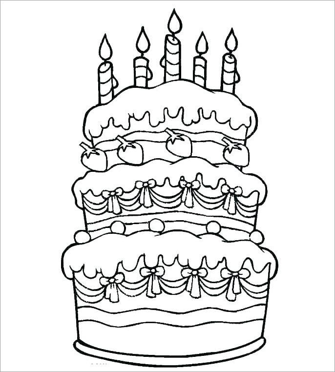 Hình tập tô bánh sinh nhật 3 tầng