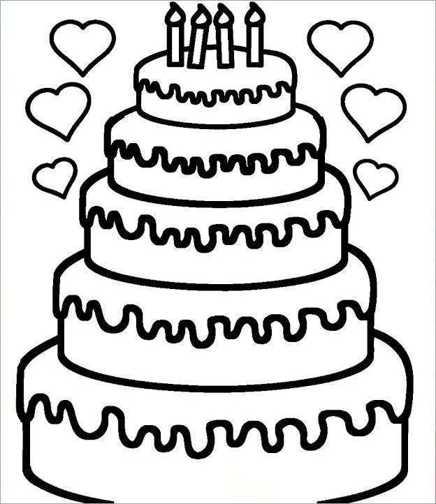 Hình tập tô bánh sinh nhật nhiều tầng