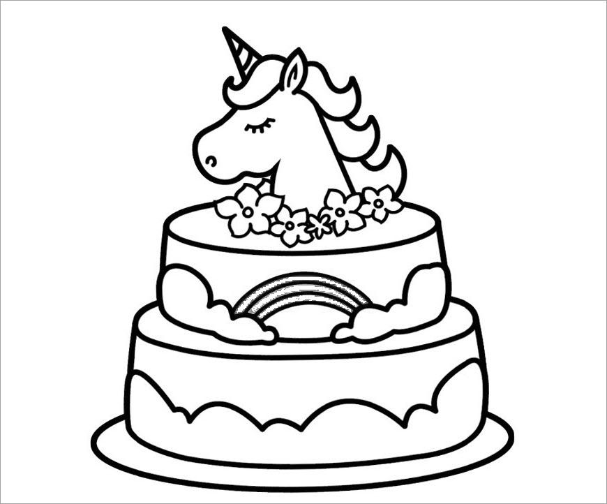 Hình tập tô chủ đề bánh sinh nhật