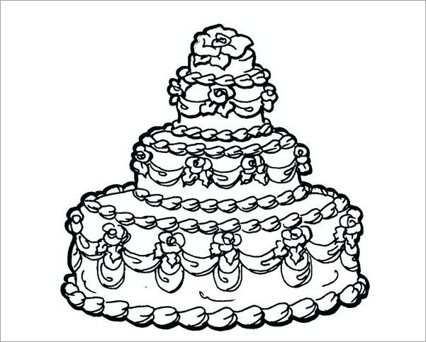 Hình tô màu cho bé chủ đề bánh sinh nhật
