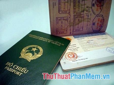 Nội dung thể hiện trong hộ chiếu