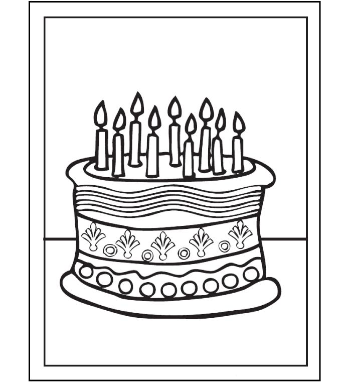 Tập tô bánh sinh nhật đẹp cho bé