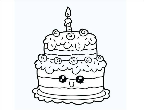Tập tô hình bánh sinh nhật