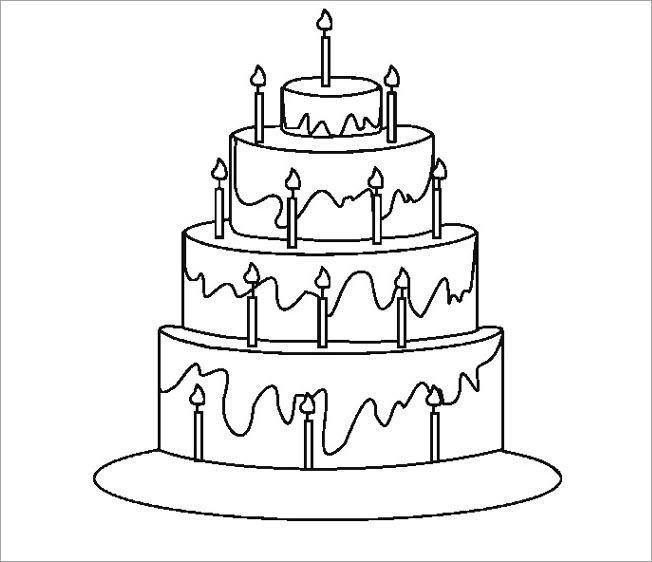 Tập tô màu bánh sinh nhật