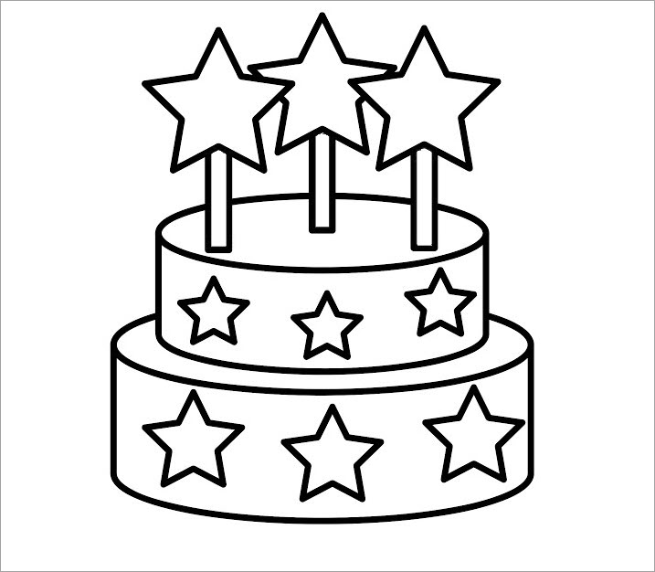 Tô màu bánh sinh nhật 2 tầng
