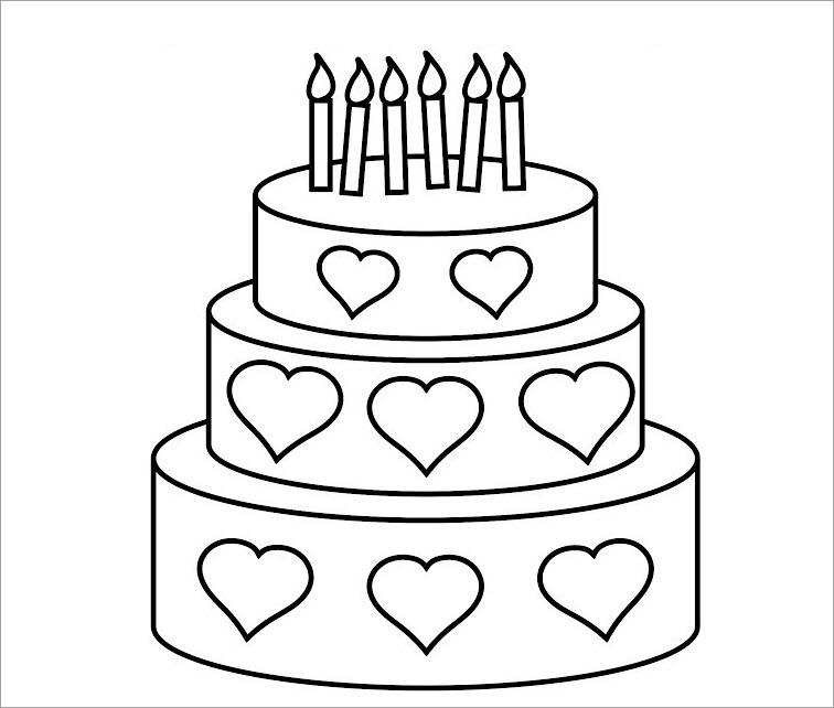 Tô màu bánh sinh nhật 3 tầng