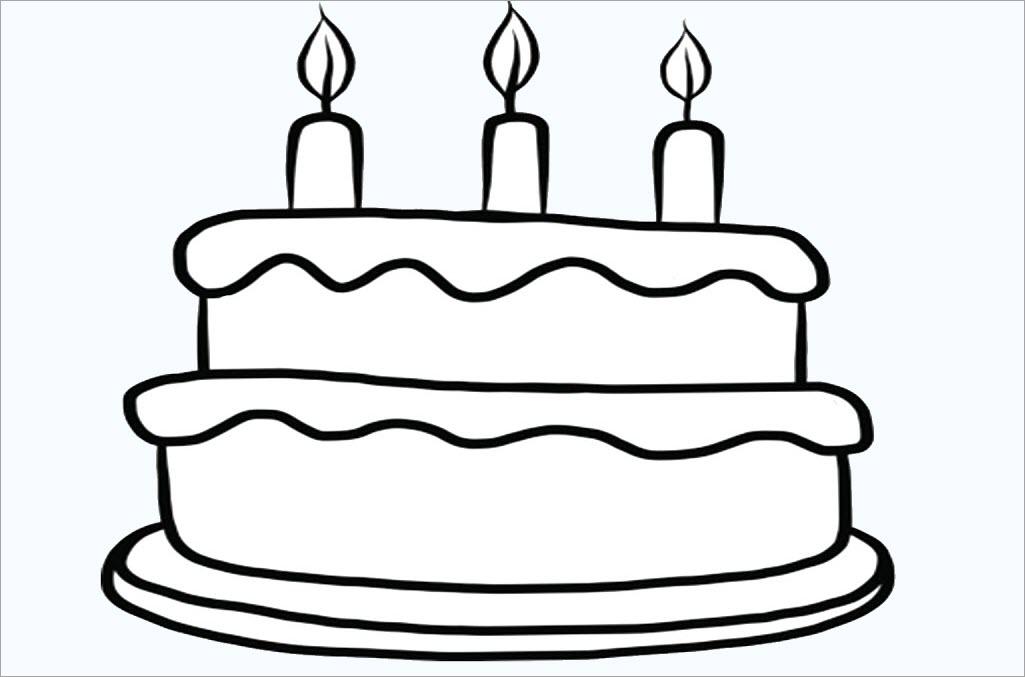 Tô màu bánh sinh nhật đơn giản đẹp