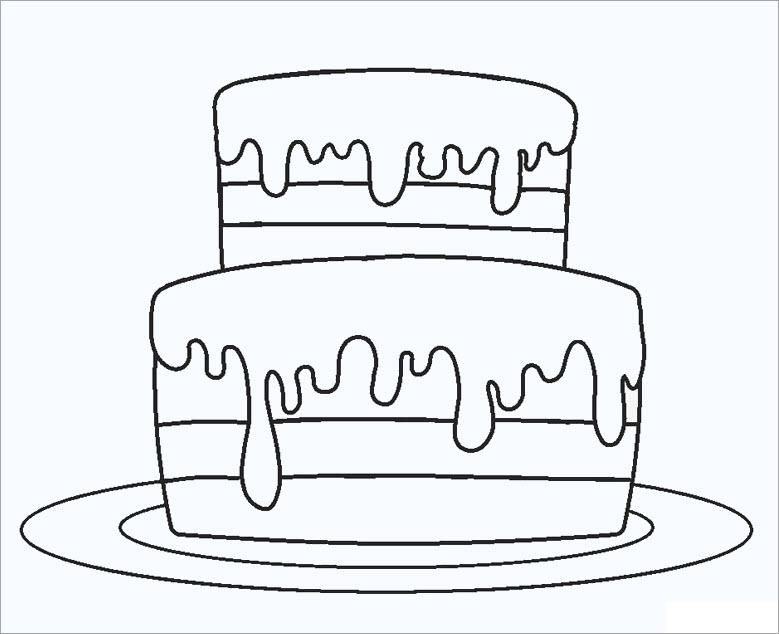 Tô màu bánh sinh nhật