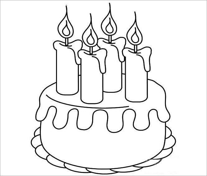 Tô màu hình bánh sinh nhật cho bé