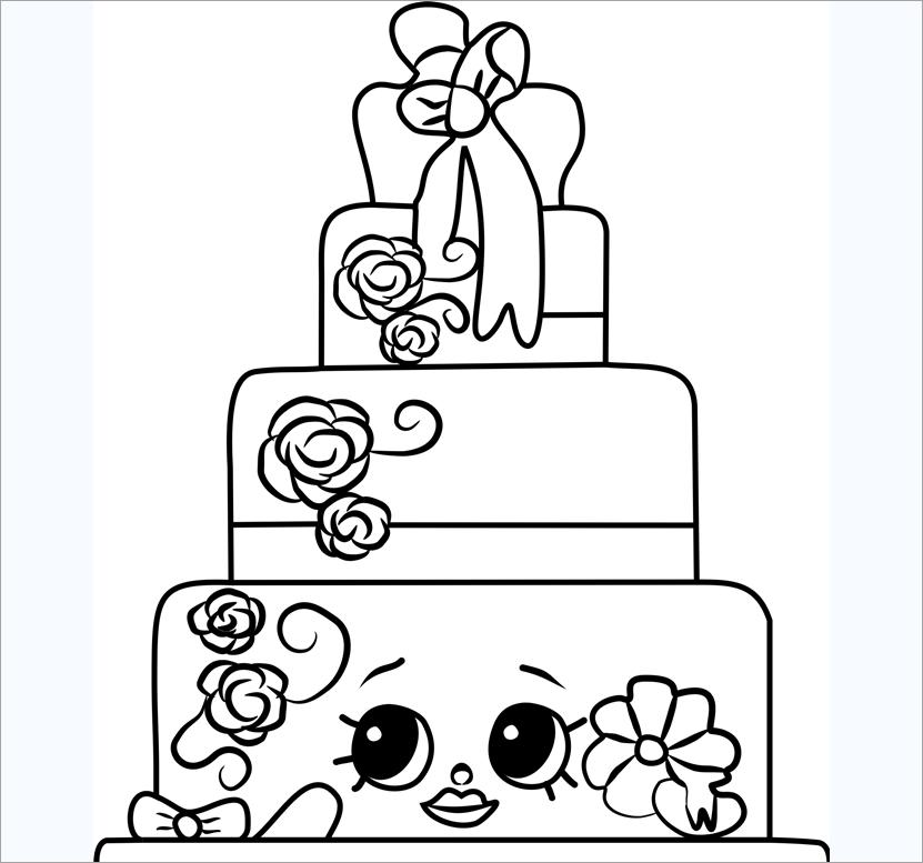 Tranh tập tô bánh kem sinh nhật đẹp