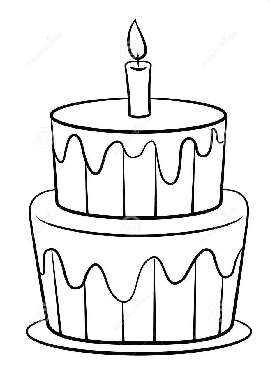 Tranh tập tô bánh sinh nhật 2 tầng