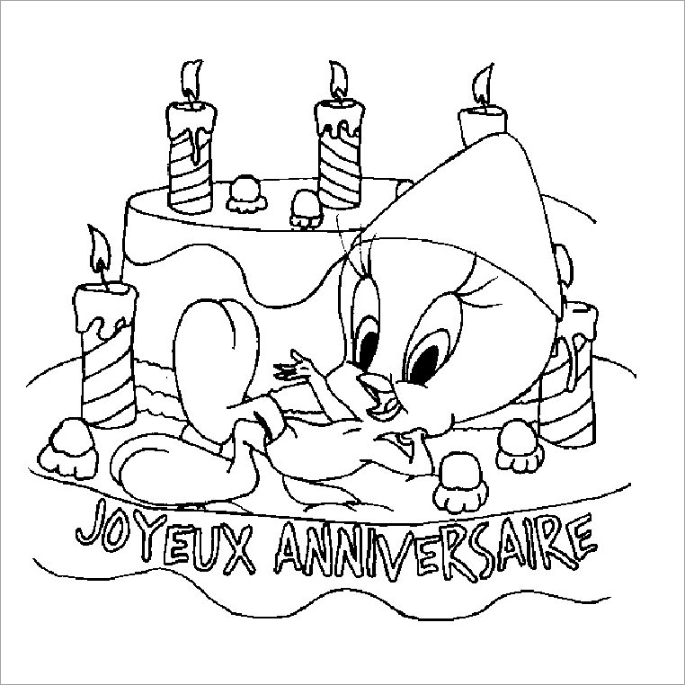 Tranh tập tô bánh sinh nhật