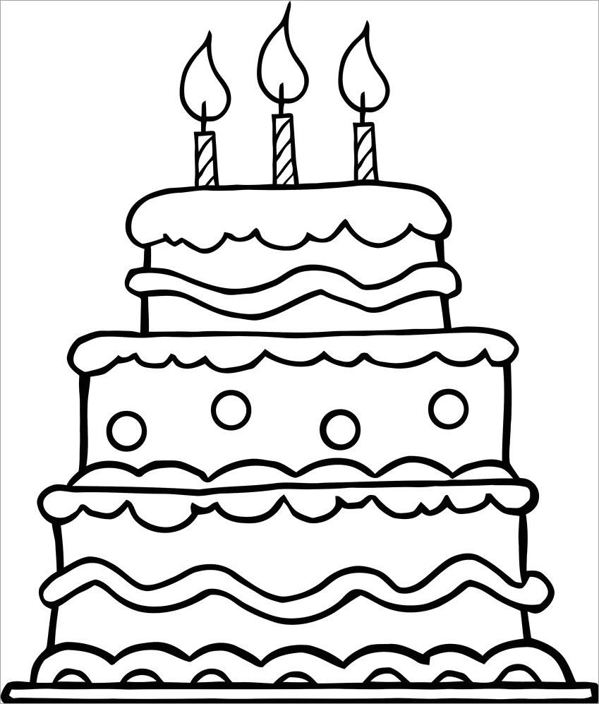 Tranh tập tô chủ đề bánh sinh nhật