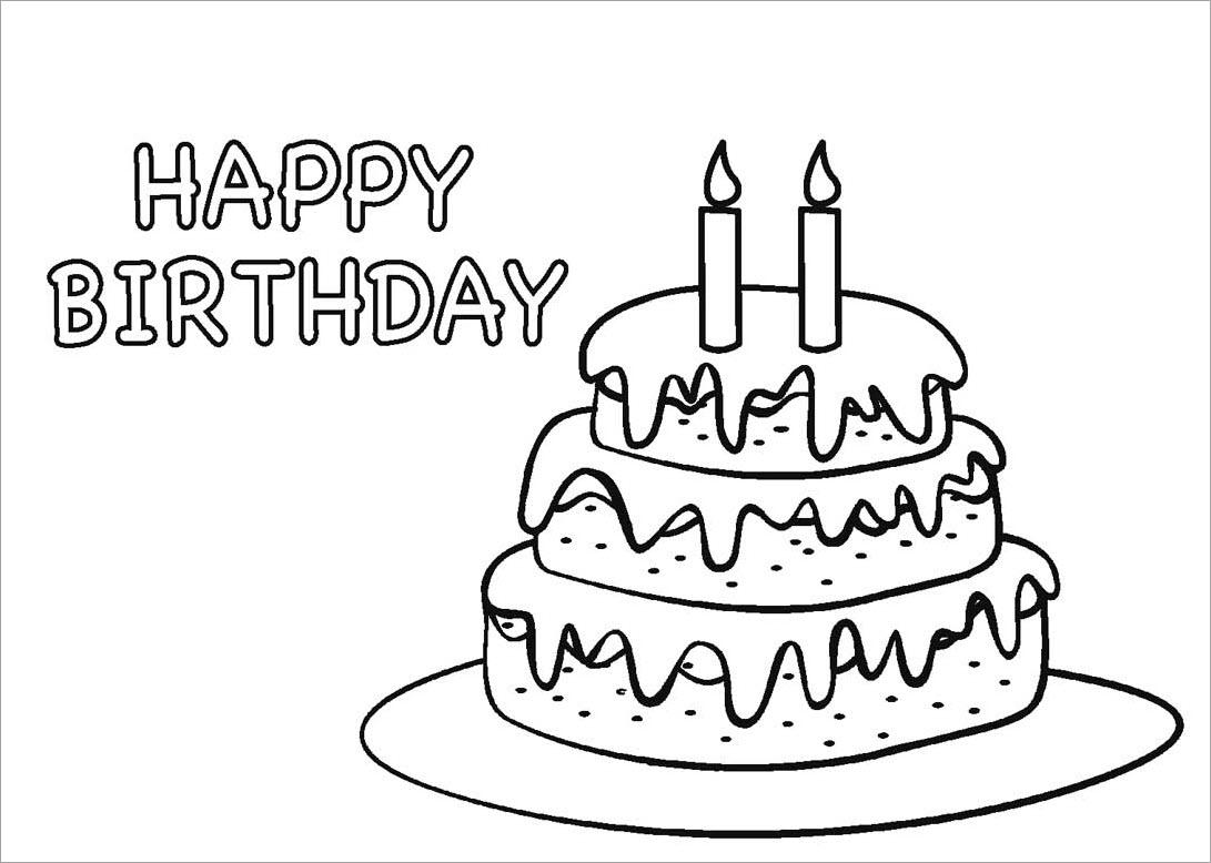 Tranh tập tô hình bánh sinh nhật cho bé