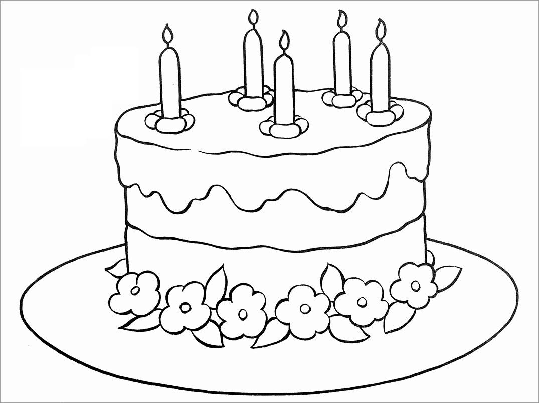 Tranh tập tô màu bánh sinh nhật