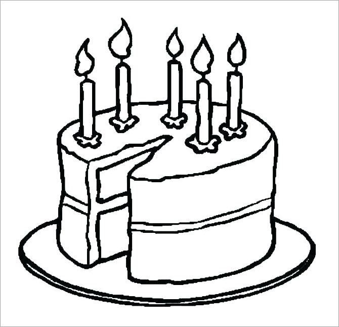 Tranh tập tô màu cho bé chủ đề bánh sinh nhật