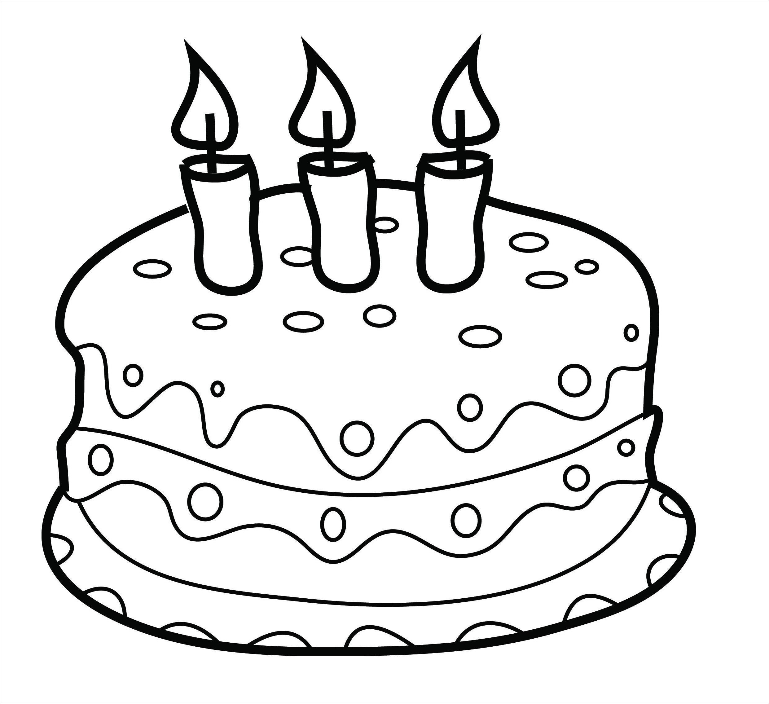 Tranh tô màu bánh sinh nhật cho bé