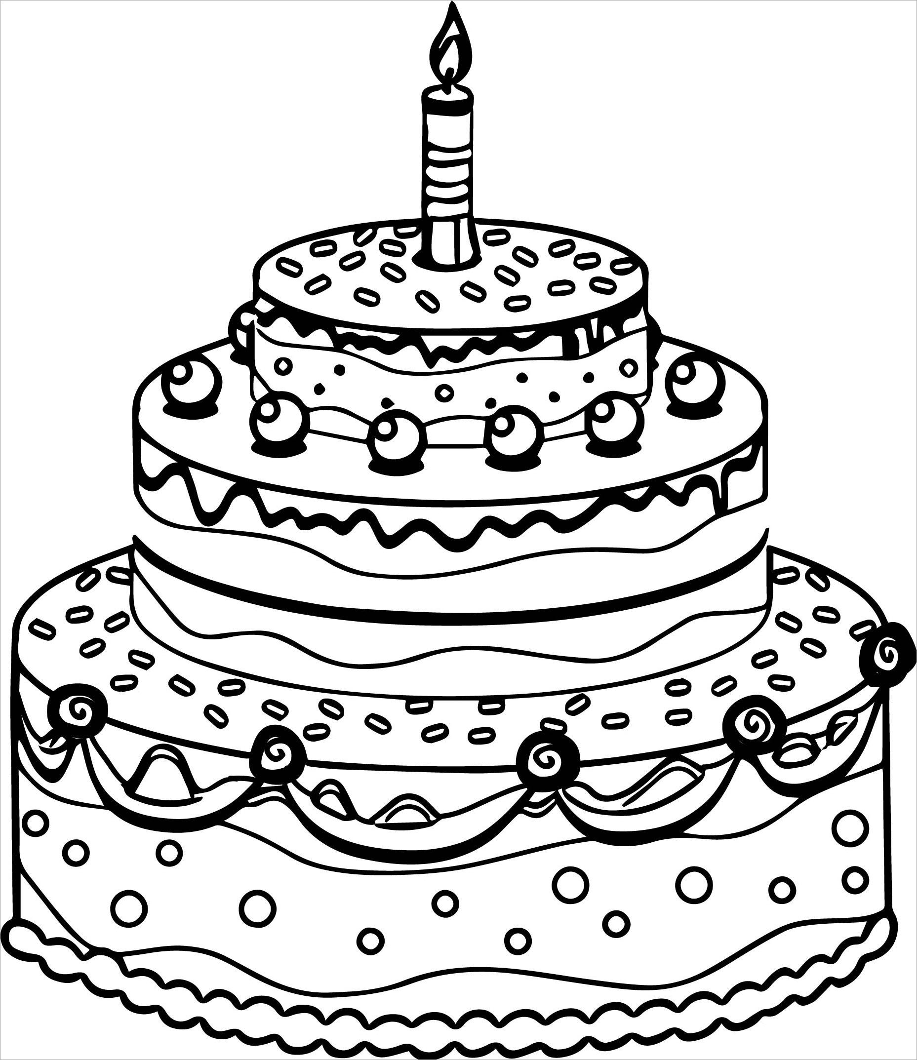 Tranh tô màu bánh sinh nhật đẹp