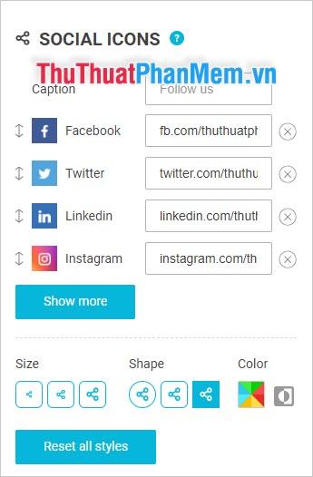 Cách liên lạc với các trang mạng xã hội của bạn