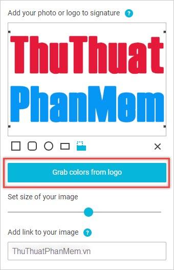 Chèn ảnh hoặc logo trong mục PHOTO OR LOGO