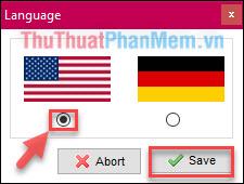 Chọn ngôn ngữ, chọn tiếng Anh