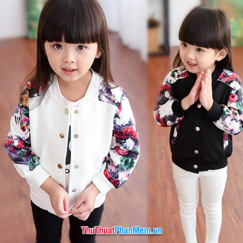 Chọn size áo cho bé gái