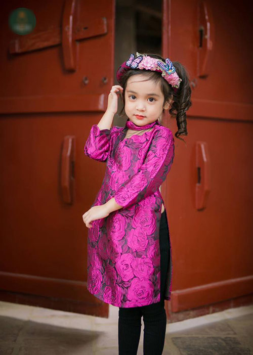 Hình ảnh áo dài cách tân cho bé gái dễ thương nhất