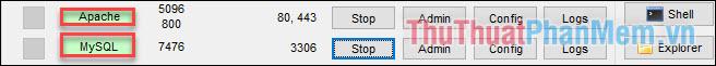 Khi 2 ứng dụng chuyển màu xanh là hoàn thành