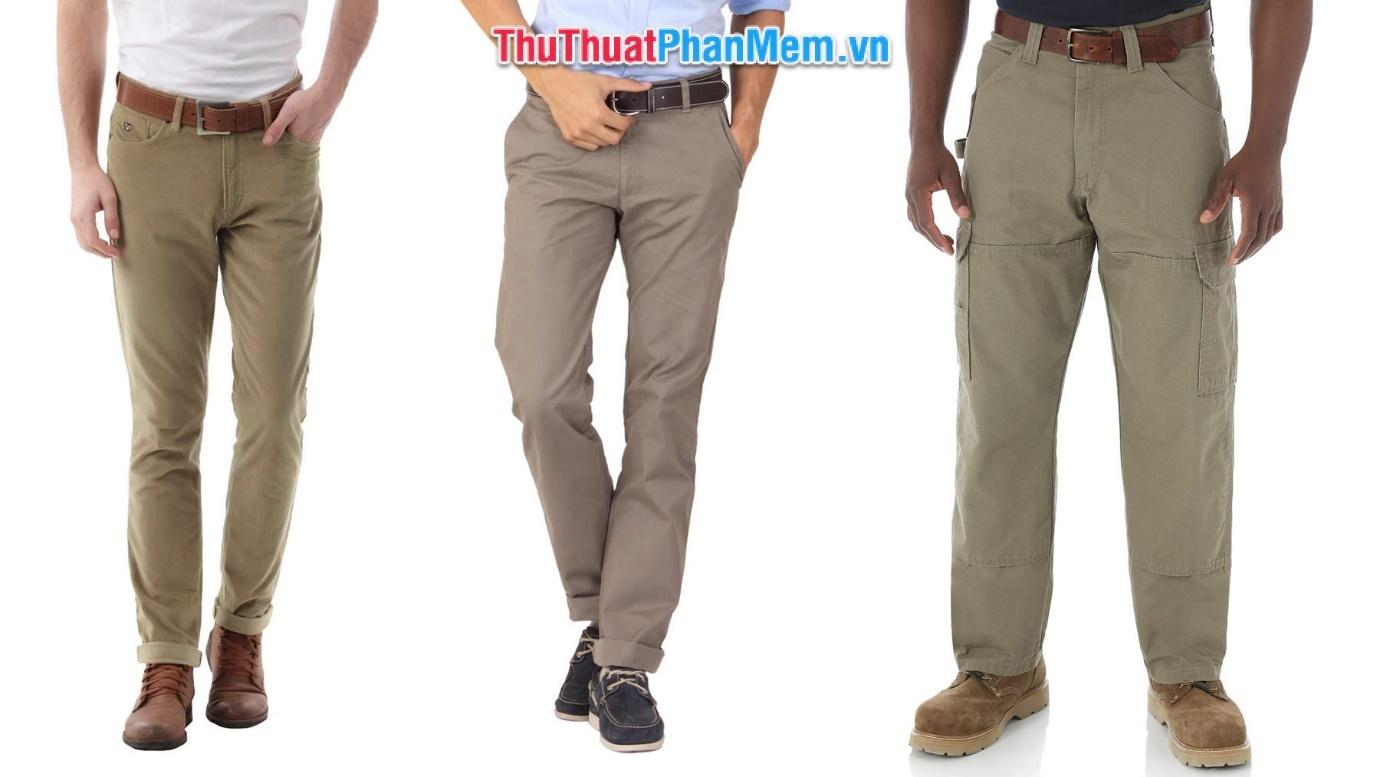 Size quần kaki nam