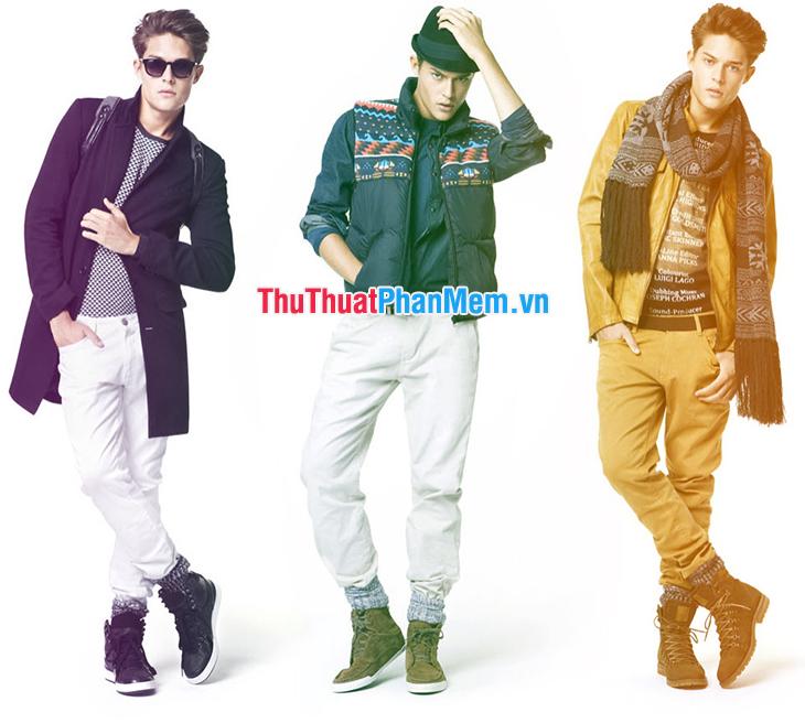 Thông số size cho một số loại quần áo nam nhất định
