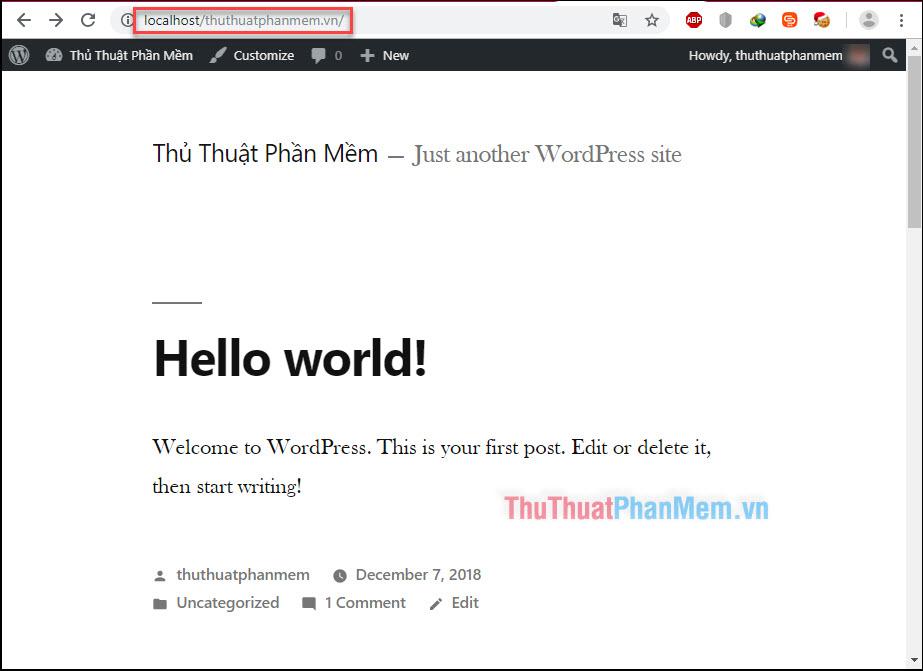 Trở lại với giao diện chính của website