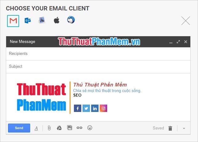 Xem thử chữ ký của mình trong giao diện của Gmail hoặc các phương tiện gửi email khác