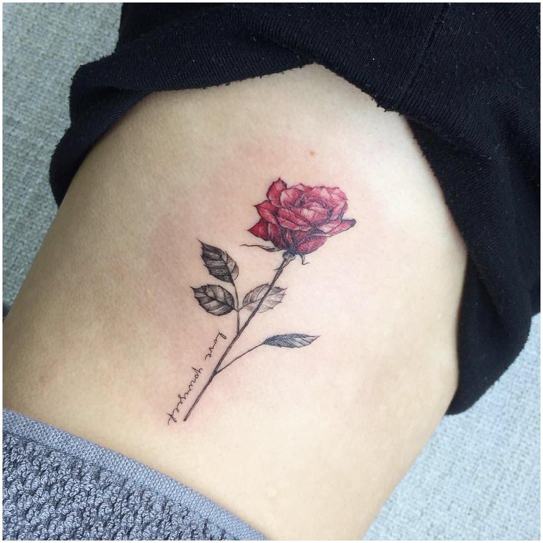Ảnh hình xăm hoa hồng nhỏ đẹp