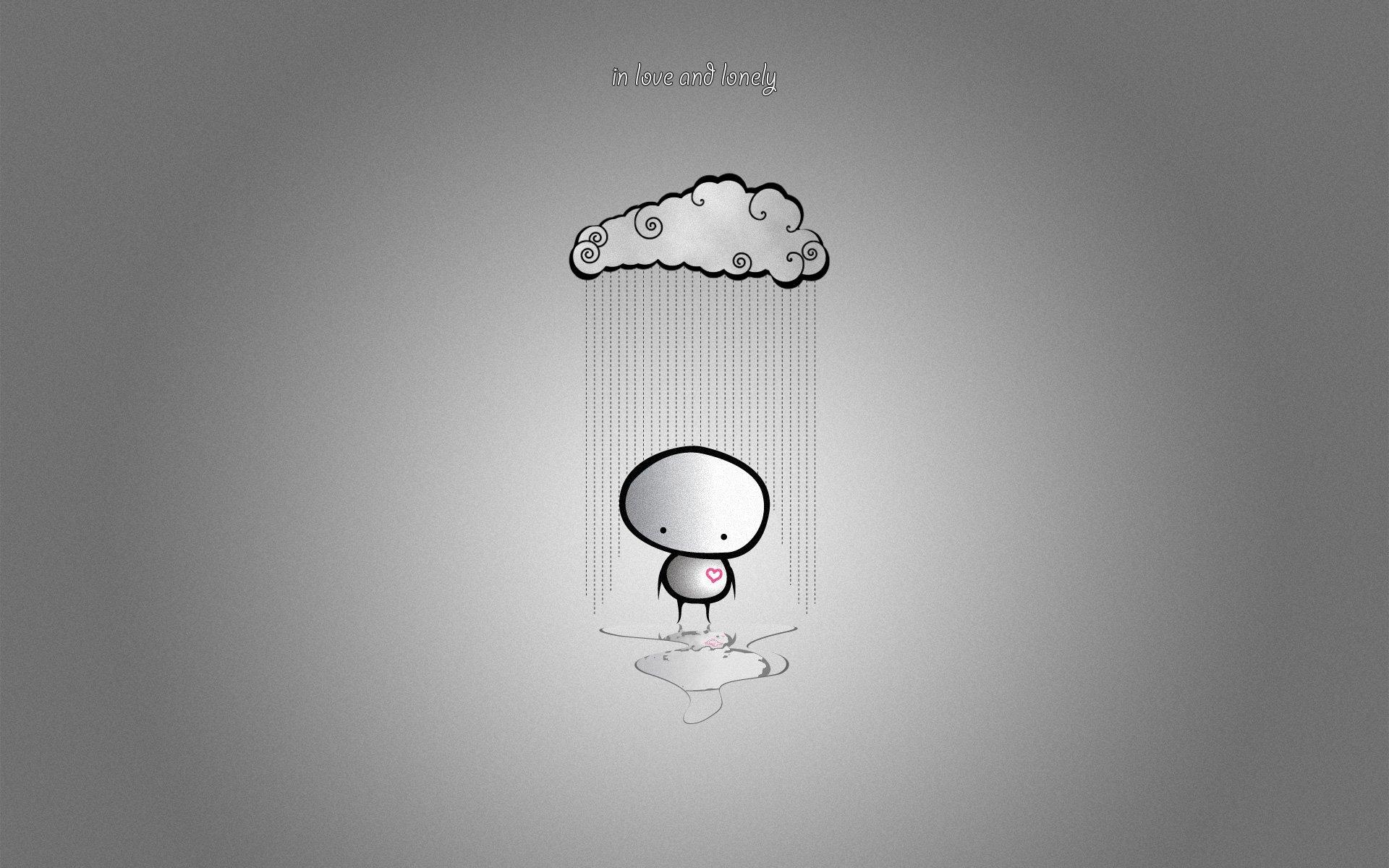 Ảnh mưa buồn cô đơn