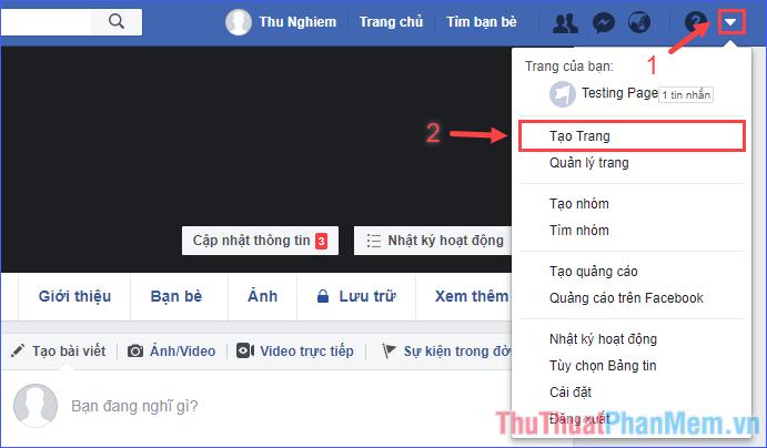 Cách tạo Fanpage Facebook và chèn vào website