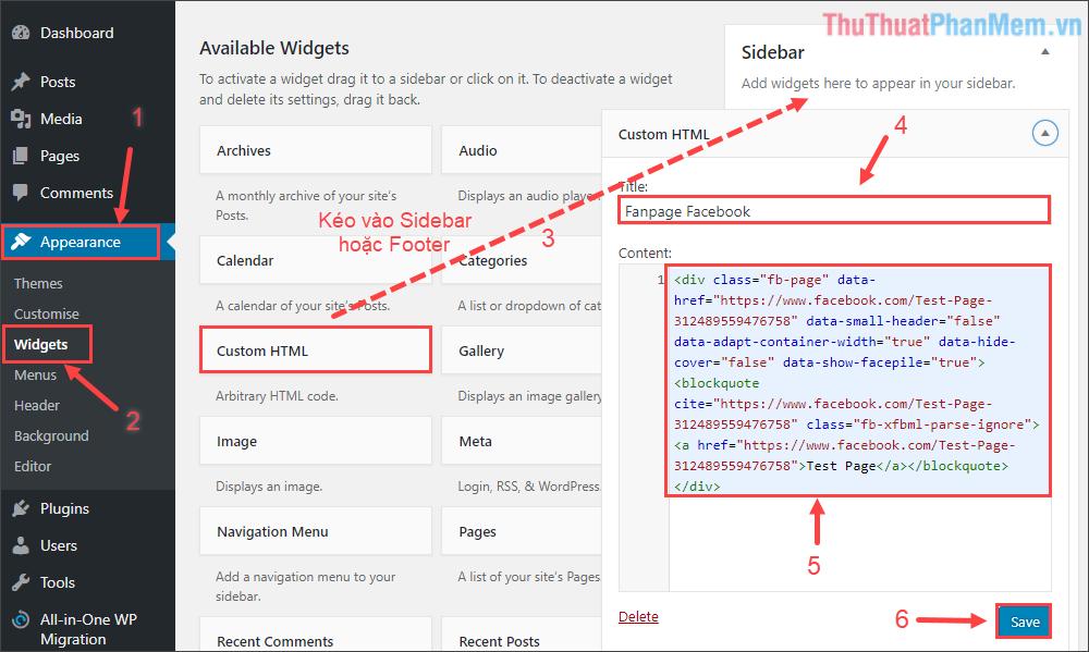 Copy đoạn mã thứ 2, dán vào bất kì nơi nào muốn hiển thị trên website