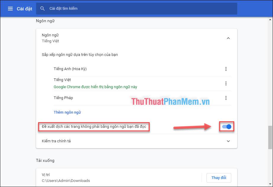 Đổi ngôn ngữ Chrome từ Tiếng Anh qua Tiếng Việt