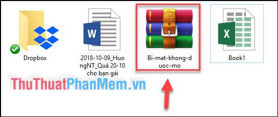 File nén sẽ được tạo cùng với mật khẩu