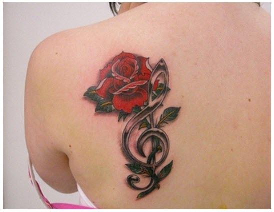 Hình ảnh hình xăm bông hoa hồng