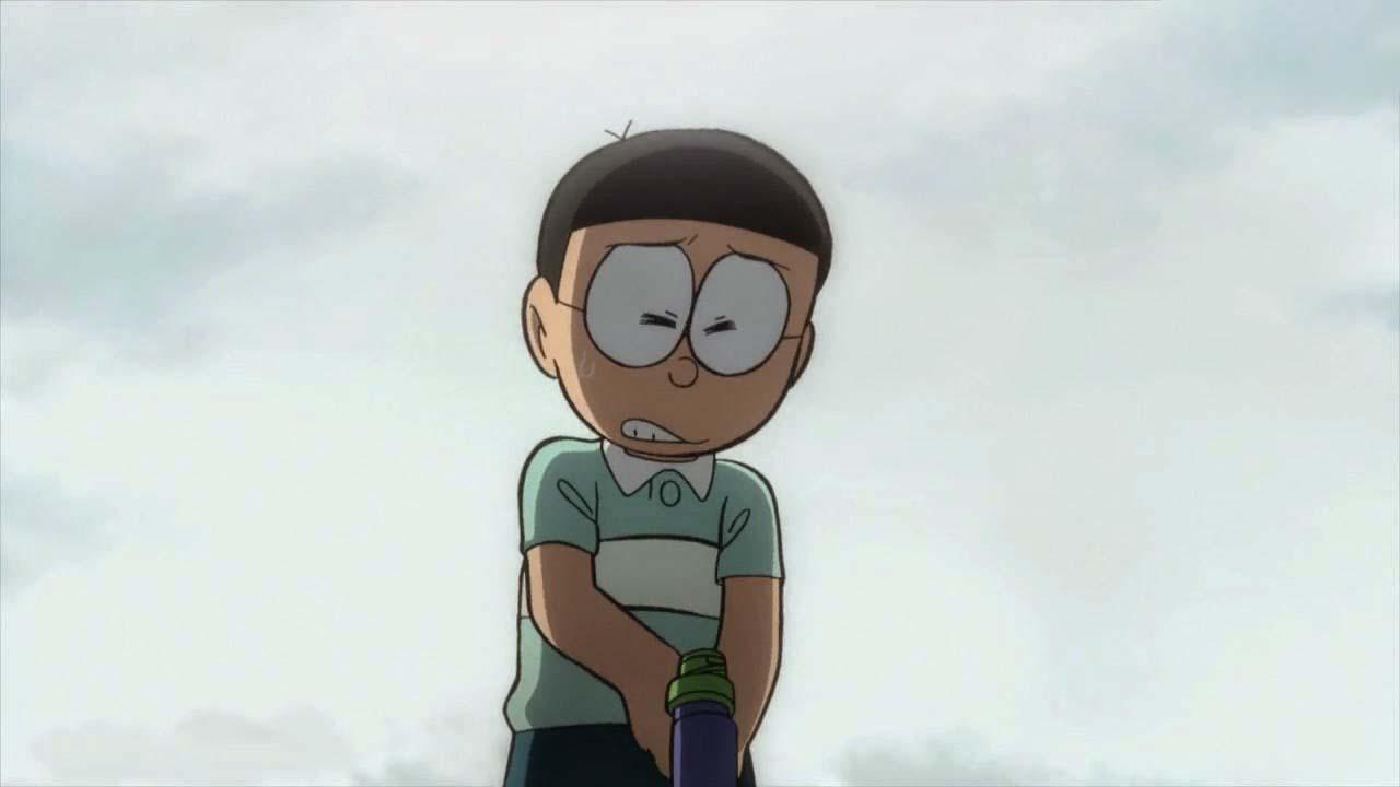 Hình ảnh nobita đang buồn