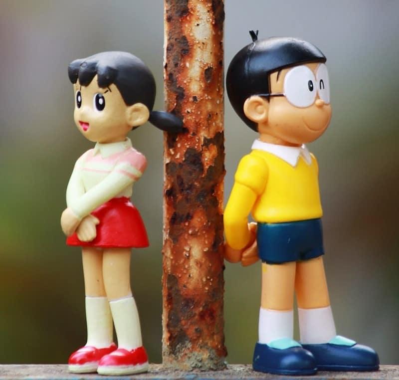 Hình ảnh nobita và xuka dễ thương